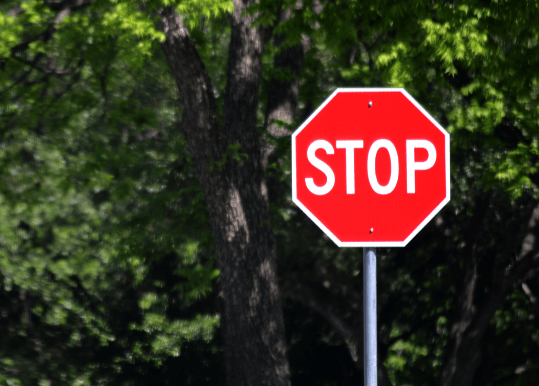 Stop sign located outside