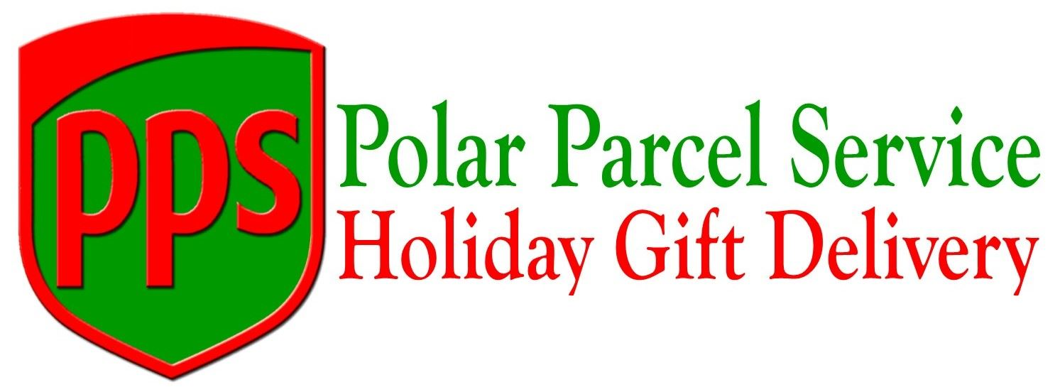 Polar Parcel Service Logo with red and green